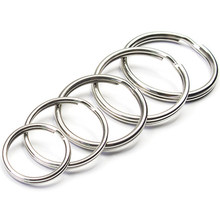 10PCS Multiple Sizes Round Split Keyring Metal Key Chain Ring Holder for Tool Toys Jewelry Accessories J208(China)