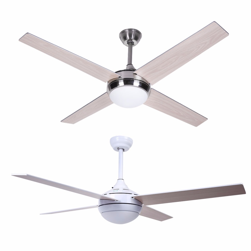 52inch Stainless Steel Ceiling Fan Light With Remote For