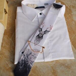 Image 5 - Freies Verschiffen Neue mode männlichen männer casual Original handgemachte hochzeit party geburtstag einzigartige krawatte gedruckt krawatte host Westlichen