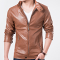 Hot Sell New Arrival Fashion PU Leather Jacket Men Male Leather Clothes Autumn Spring Coat  High-quality Leather Jacket Clothes