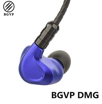 BGVP DMG 4 armadura equilibrada + 2 dinámico controladores híbrido de alta fidelidad MMCX desmontable IEM en-oído auricular