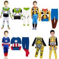 Boys Pajamas Sets Super Heros PJS Long Sleeve Sleepwear Size 8 9 10 11 12 Years