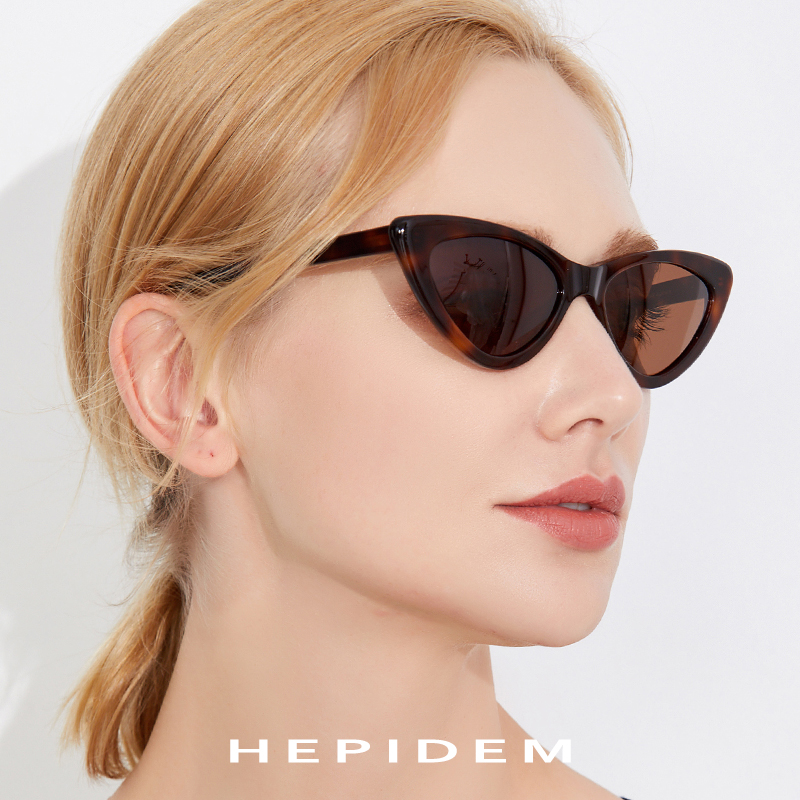 Acetate Sunglasses Women Polarized 2018 Fashion Mirrored Cat