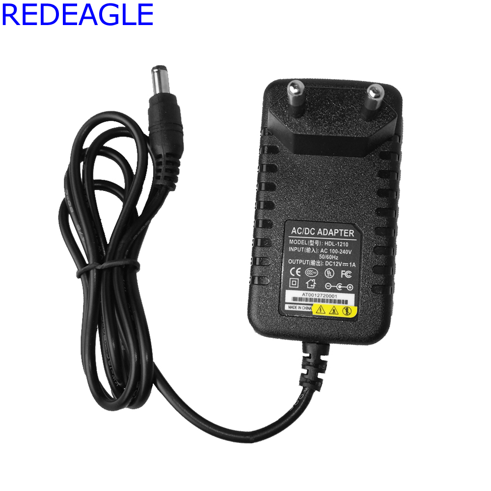 REDEAGLE 12V 1A Output Power Supply for Surveillance System Security Camera 100-240V Input EU US Plug CCTV Accessories 1 12v 1a dc switch power supply adapter for cctv camera eu for security camera