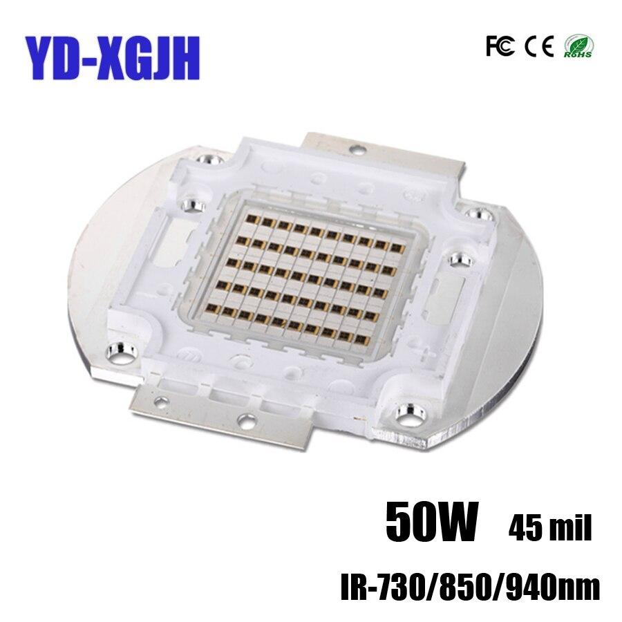 Projecteur d'émetteur de lumière LED infrarouge de la boule 730/850/940nm de LED de puces de la puissance élevée 50 W IR Diode de caméra de nuit de télévision en circuit fermé d'épi de SMD pour la sécurité