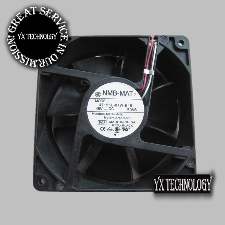NMB  Brand new original converter radiator fan fan 4715KL-07W-B49 48V computer equipment 119*119*38mm