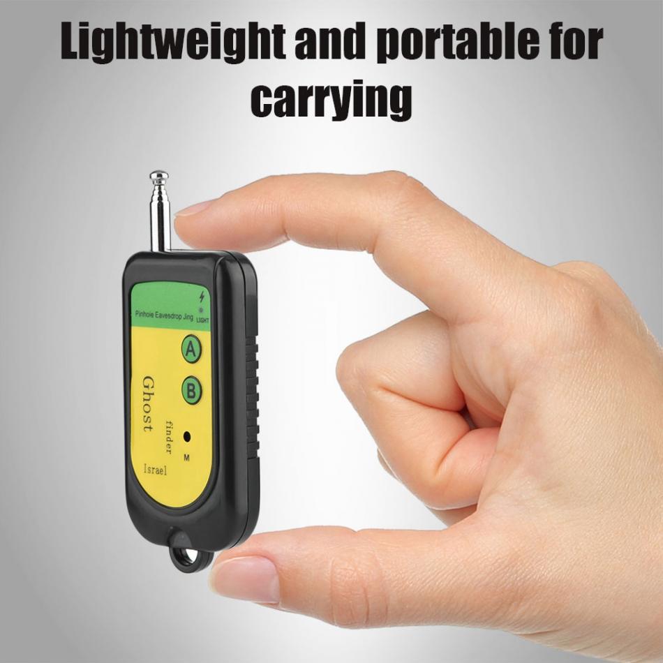 Bug Signal RF Détecteur de Caméra GSM Sans Fil Dispositif de Détection Chiens 100 ~ 2400 Mhz 1.5 V Noir Mobile Téléphone Signal détection Machine