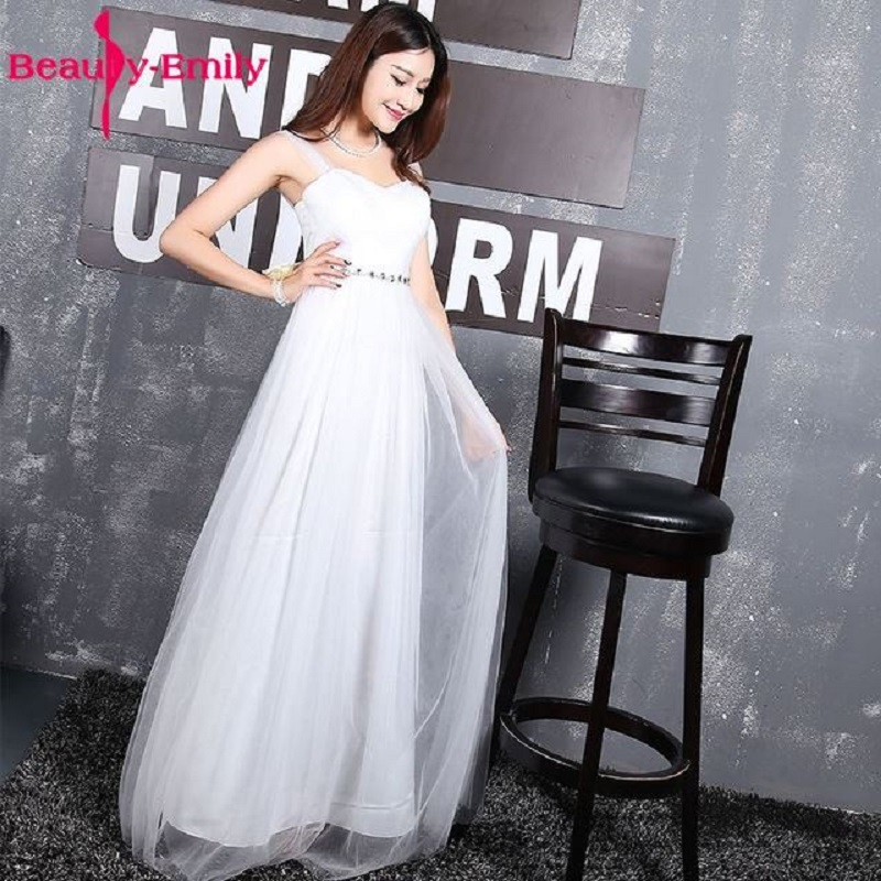 Beauty Emily Long Pink Bridesmaid Dresses 2018 A-Line Sleeveless Lace Up Off the Shoulder Wedding Party Girl Prom Dresses