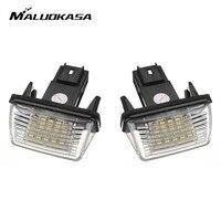 MALUOKASA 2Pcs Error 18 LED Number License Plate Light For Peugeot 206 207 306 307 406