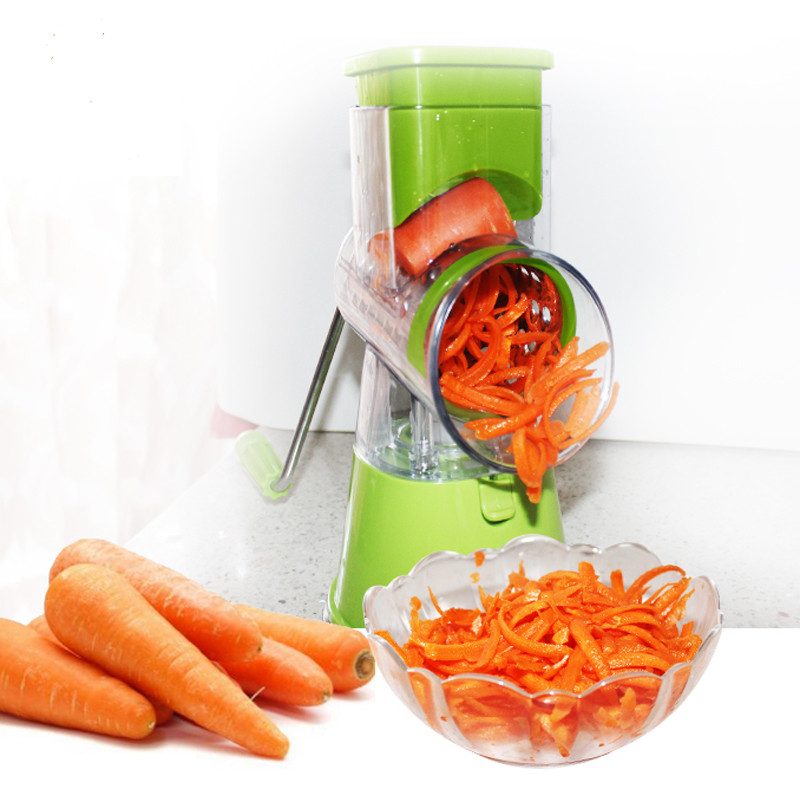 Manual Slicer Household Multifunctional Stainless Steel Blade Vegetable Slicer Peanut Grinder With 3 Blade Rotatable Mincer lucog home cutting machine meat grinders kitchen mincing mincer with stainless blade manual cutter hand slicer for vegetable