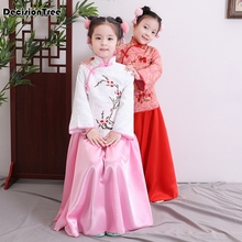 2019 new kids traditional chinese dance costumes children girls national dresses hanfu child clothing ancient