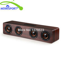 MERRISPORT Portable Wireless Bluetooth Speakers 4.0 With AUX, Bass Sound, Built In Mic For Home TV iPhone Samsung Android Tablet