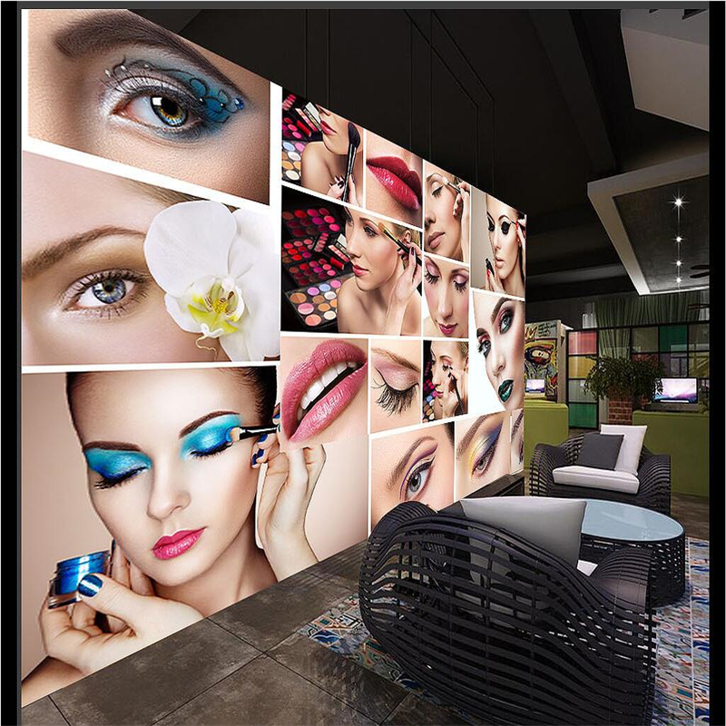 Beibehang Customize Any Size Wallpaper Mural Makeup Backdrop Beauty Showcase Cosmetic Wall Image 3d In Wallpapers From Home