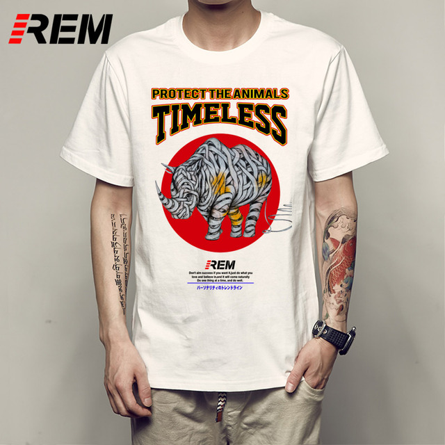 Rem Protection Timeless Rhinoceros Icon Heat Transfer T Shirt Design Men S O Neck Short