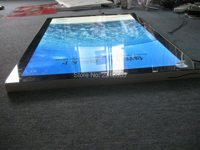 Single Sided Counter Top A2 Aluminium Frame Magnetic Fraont Led Panel, Snap Led light Boxes