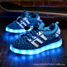 Children's Shoes New Led Light-emitting Shoes Boys and Girls USB Colorful Flying Shoes