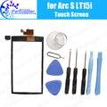 Original del 100% para sony xperia arc s lt15i lt18i x12 táctil digitalizador pantalla táctil del panel de tacto
