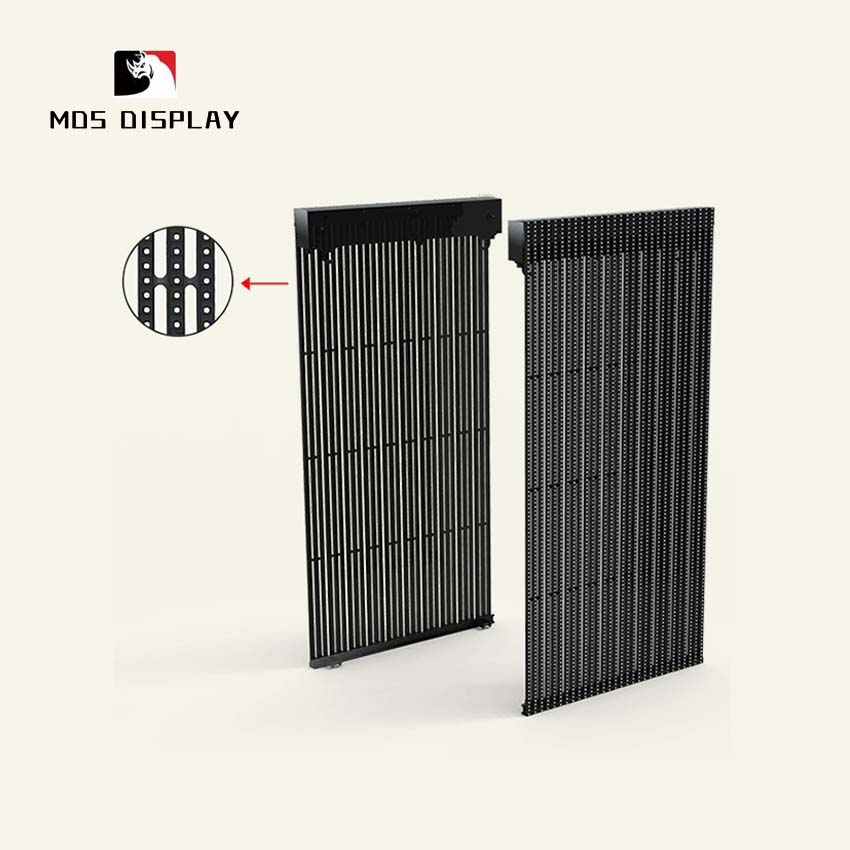Ultra Thin P8 Led Mesh Advertising Led Panel, Outdoor Smd Rgb Transparent Led Screen Display Video Wall