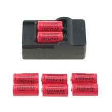 3000 3000mah の充電式 3.7V リチウムイオン 16340 バッテリー CR123A Led 懐中電灯トラベル壁の充電器 16340 CR123A バッテリー