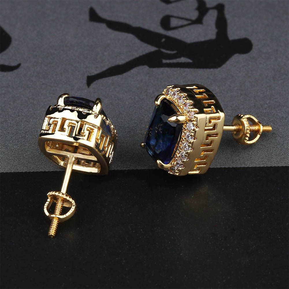أقراط أذن متعددة الألوان من TOPGRILLZ أقراط مرصعة بأحجار الزركون المكعبة المرصعة بأحجار الهيب هوب مجوهرات لحفلات الهدايا