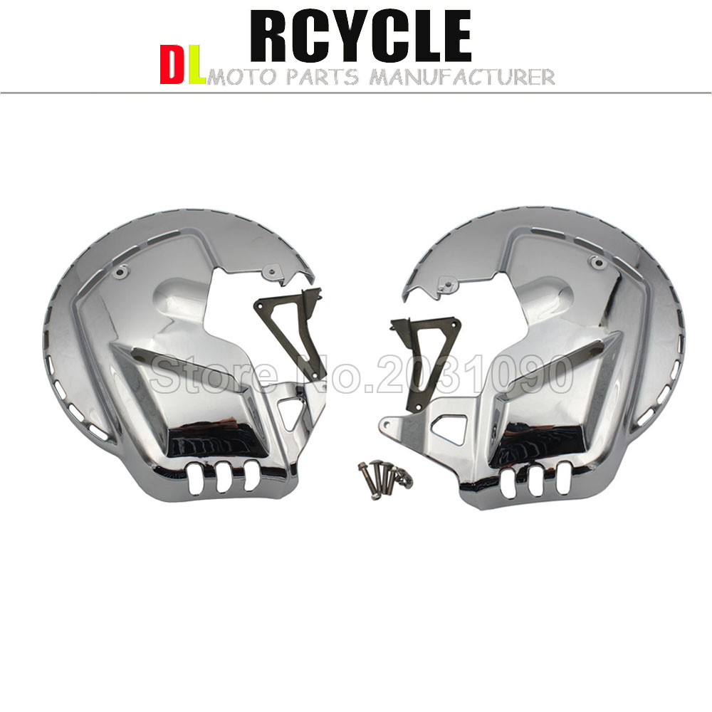 For Honda GOLDWING GL1800 2001 2014 F6B 2013 2015 Chrome Motorbike Brake Rotor Covers W LED