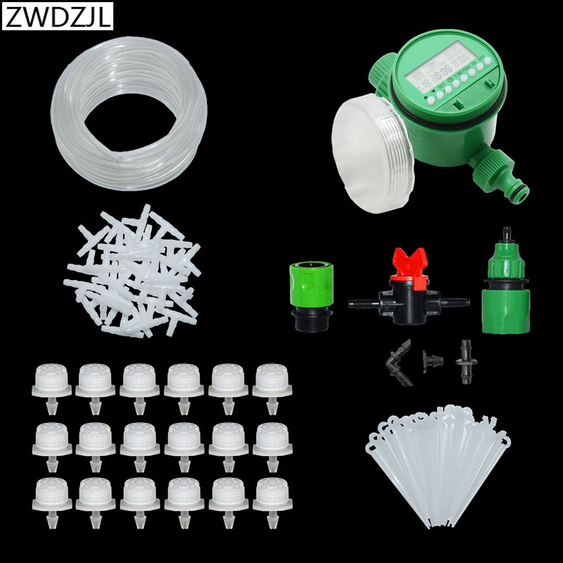 Greenhouse DIY Automatic Drip Irrigation System Garden Watering Kits Micro with Adjustable white Dripper 1 set|Watering Kits| |  - title=