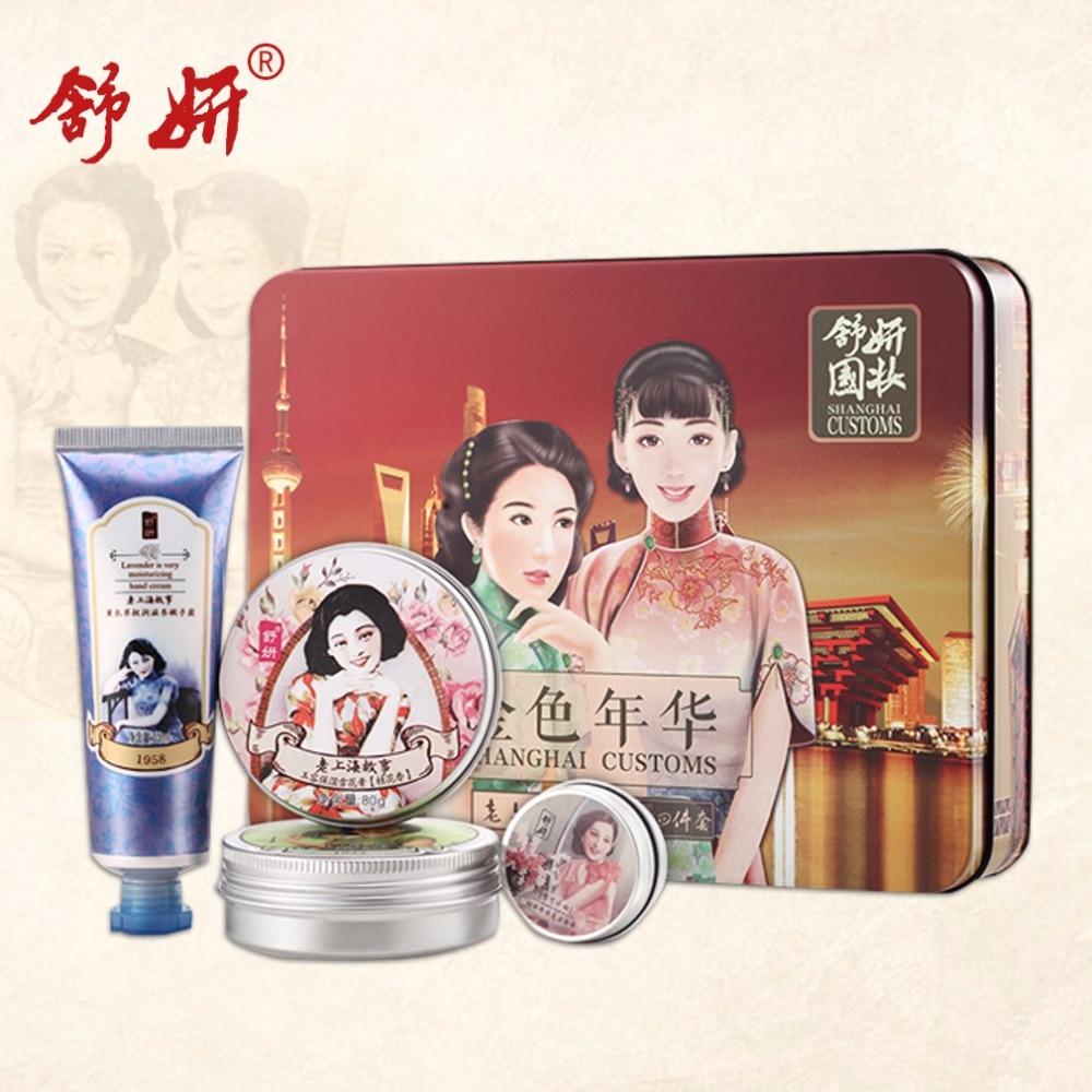 ShuYan Brand Whitening font b Skin b font Care Kits Shuyan Sweet scented Osmanthus Jade font