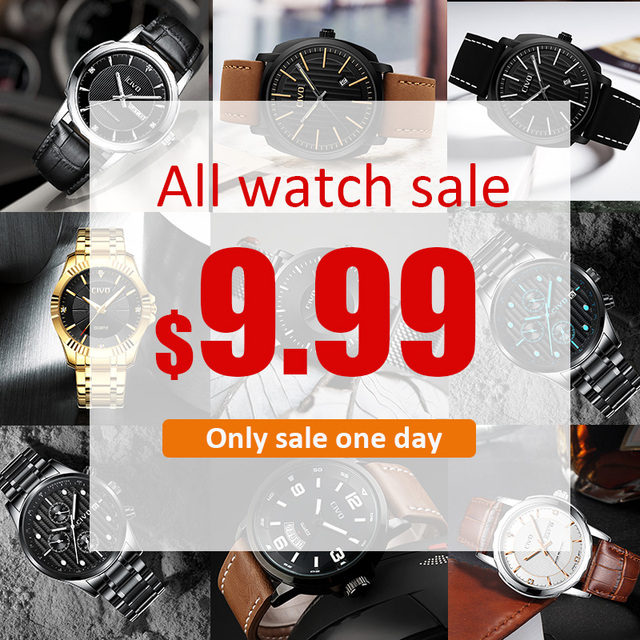 CIVO EVERY DAYS BIG SALE, ALL WATCHES SALE 9.99$ Mens Watches Top Brand Luxury Watch For Men Quartz Clock