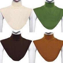 Classic Bib Headscarf Islamic Muslim Hat Hijab Silk Scarf 402 Headband Long Neck Back Shawl Cover Scarf