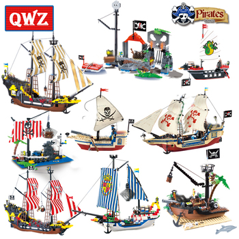 DIY Model Sets Pirates Castle Figures Caribbean Building Blocks Children Toys Kids Educational Bricks Gifts 731 pcs princess castle windsor s castle diy model building blocks bricks kit toys girl birthday gifts compatible with legoings