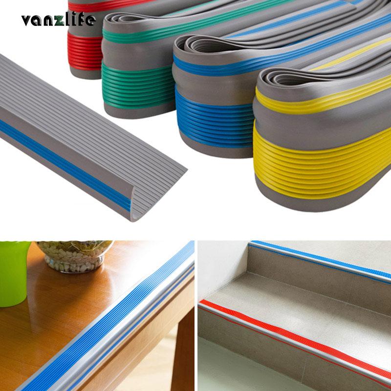 Vanzlife Thick PVC Anti-collision Rubber Non Slip Stair Step Angle Corner Floor Layering