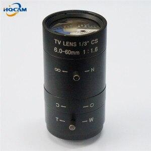 "Image 3 - HQCAM 6 60mm CS F1.8 lente 1/3 ""zoom Varifocal lente de zoom Manual Iris para cámara CCTV de seguridad, F1.8 CS 1/3"" 51,5 ~ 6 grados"