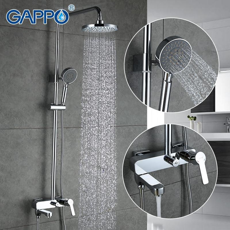 Gappo 1 takım seti banyo seti musluk seti banyo duş bataryası seti ile sürgü yağış duş başlığı küvet duş musluk G2402