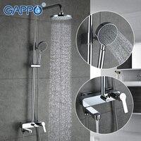 Gappo 1 компл. Ванная комната комплект Набор смесителей ванны смеситель для душа с горкой Бар Осадки насадка для душа ванна смеситель для душа s