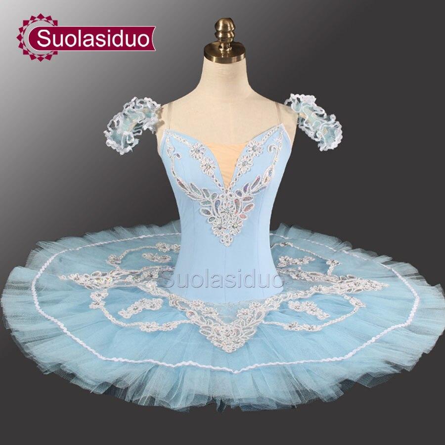 Blue Professional Tutu Ballet Performance Classical Adult Dancewear SD0005