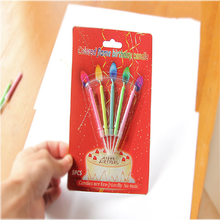 Dream Multicolor Flame Birthday Candle Home Decoration Multicolor Colorful Color Flame Candles For Wedding Decoration 20pcs/Lot
