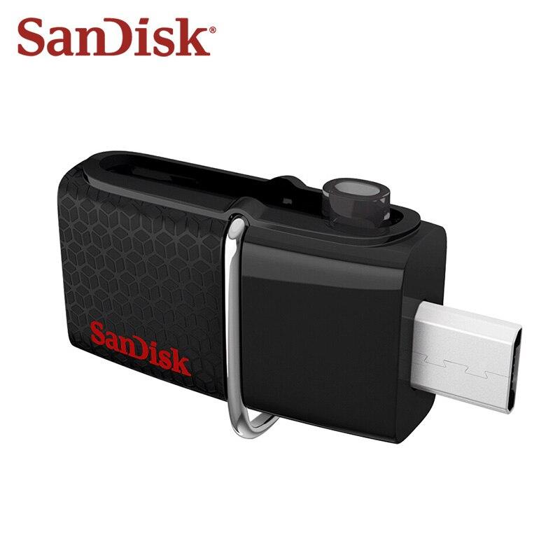 Sandisk Flash Drive OTG 16GB Dual Drive Usb Micro USB 3.0 DD2 U Disco Memory Stick Pendrive Frete Grátis
