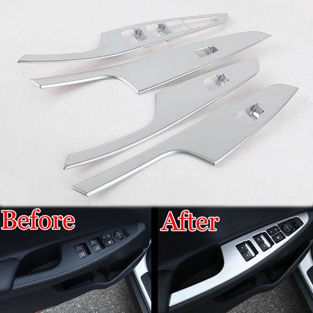 4pcs Car styling Interior Door Window Lift Switch Botton Panel Cover Trim Sticker For Hyundai Tucson 2015-2016 Car accessories