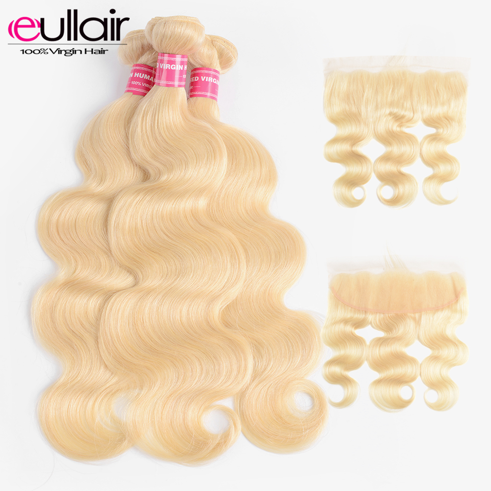 3/4 Bundles With Closure Hair Extensions & Wigs Hot Sale Lekker 613 Blonde Bundles With Closure 2 3 Peruvian Straight Remy Human Hair Weave Bundles 613 Honey Blonde Bundles With Closure