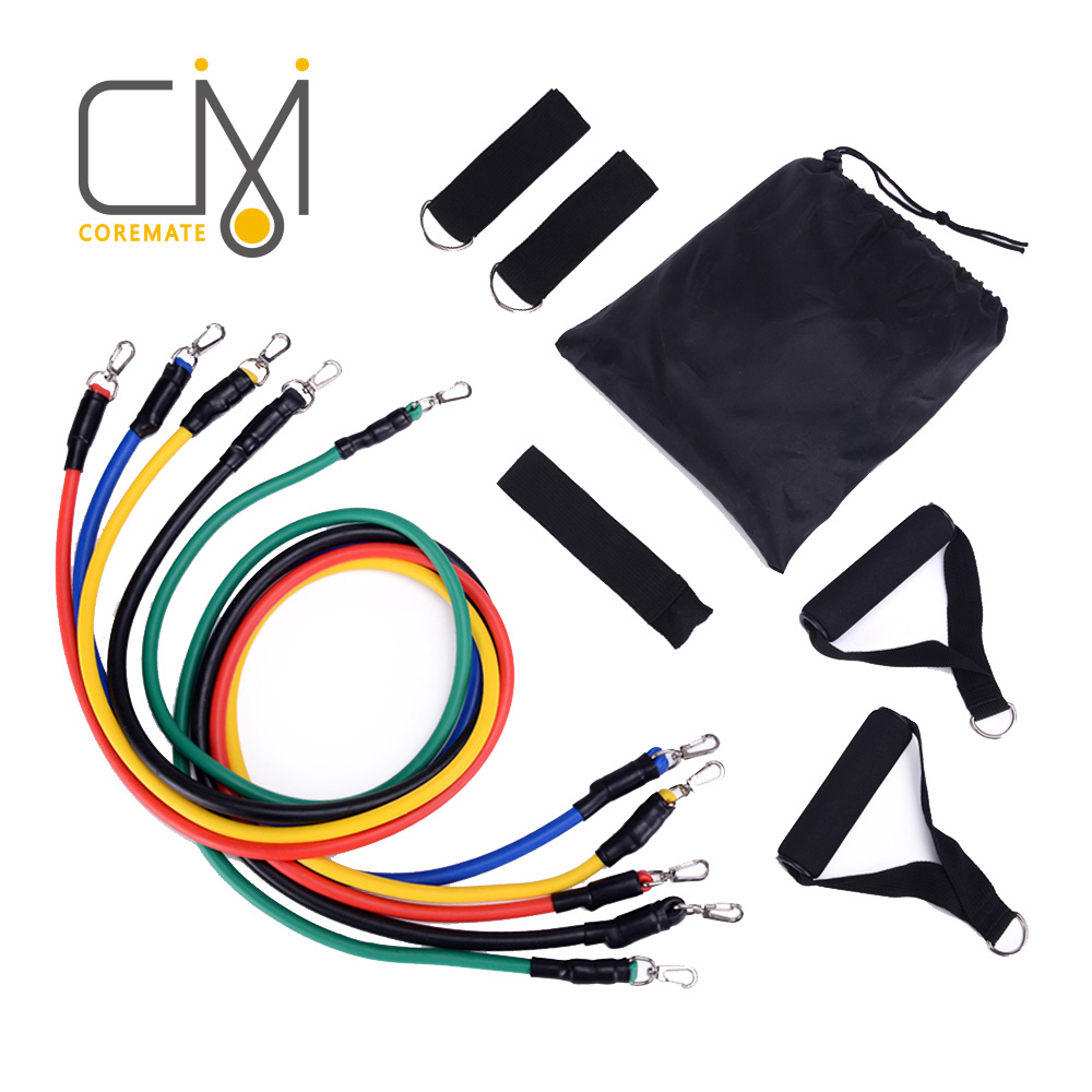 COREMATE Exerciser Resistance Bands Latex Training Fitness Sport Set Workout Home Gym Pilates Pull Rope Rubber Developer Yoga
