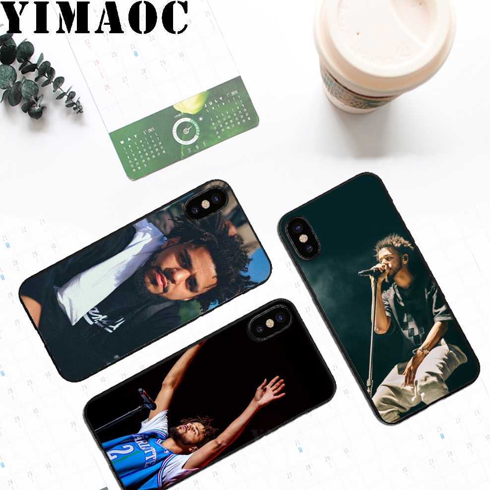 YIMAOC J Cole хип-хоп Мягкие TPU черный силиконовый чехол для iPhone Xr Xs Max X или 10 8 7 6 6 S плюс 5 5S SE