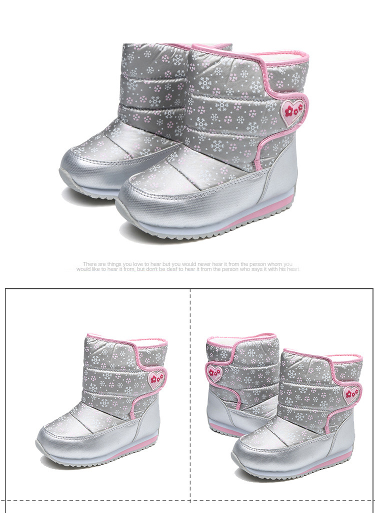 -30 degree Russia Winter Warm Child Snow Boots Shoes Waterproof children's shoes for Kids boots Fashion Baby Girls Boots F332 6