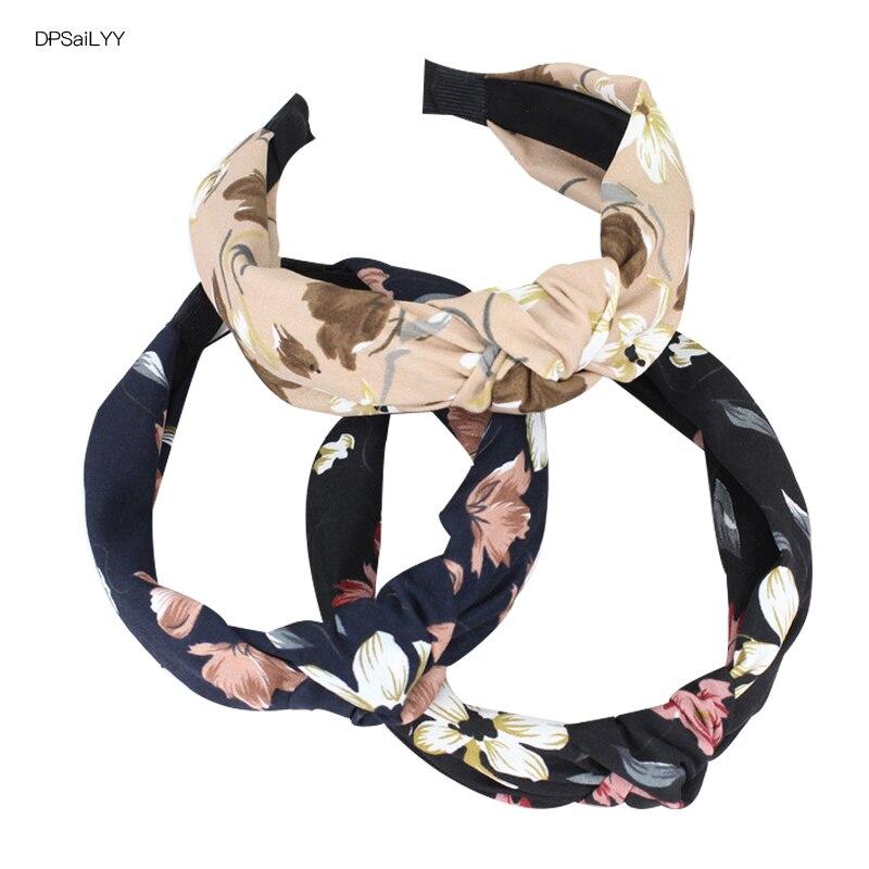 DPSaiLYY 1 PC Seconds Sale Flower Print Hairband for Women Cotton Elephant Headband Hair Scarf Non Slip Headband Accessories