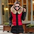 Large Real Raccoon Fur 2016 Winter Jacket Women Fur Hood Cotton Padded Coat Parkas For Women Winter Parkas