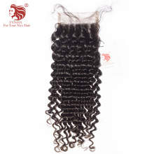 "[FYNHA] Brazilian Kinky Curly Virgin Hair Lace Closure 100% Human Hair 4""x 4"" 10-18inch Free Shipping"