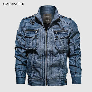 CARANFIER 6XL Mens PU Jacket Leather Coat Autumn Slim Fit Faux Leather Motorcycle Jackets Male Coats 2019 Brand Clothing Coats - DISCOUNT ITEM  45% OFF All Category