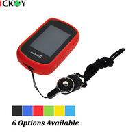 Outdoor Protect Silicon Rubber Case Black Detachable Ring Neck Strap For Hiking Handheld GPS Garmin ETrex