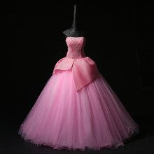 100% real pink petal waist flower princess beading medieval dress Renaissance gown queen/princess Victorian Belle Ball gown