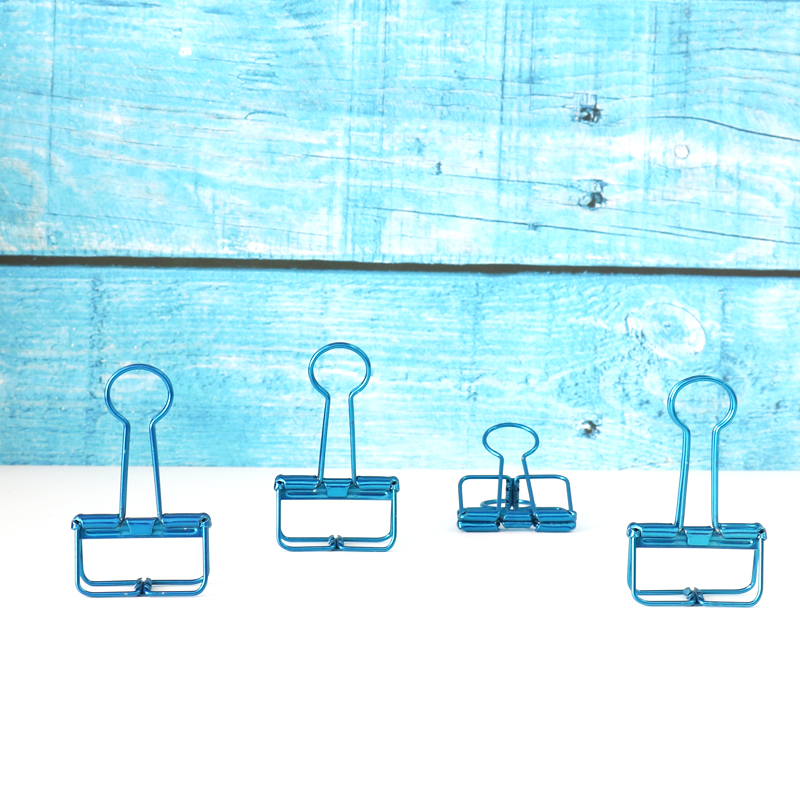 TUTU 32mm 5pcs/lot Electrophoretic-coated Hollowed Out Design Binder Clip Paper Organizer Stationery Decorative Metal Clip H0313