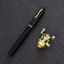 1pcs Portable mini Fibre glass   fishing pole  Rod pen and Reel Combos  Newest